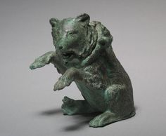 Bronze oil ampula in the form of a dancing bear. Roman. 3rd century A.D. | Cleveland Museum of Art