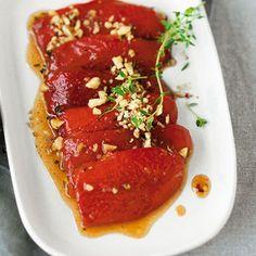 Geröstete Paprika mit Granatapfel-Vinaigrette