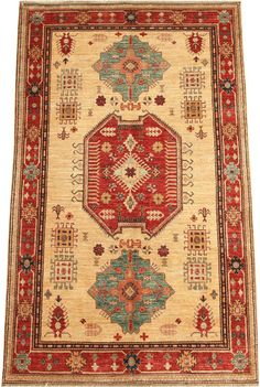 Today's Kazak is a modern shape of old Caucasian rugs which strictly adheres to traditional design elements of the Caucasus.  http://www.alrug.com/4621