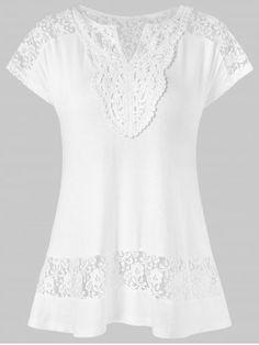 New Arrivals: Womens Clothes Dress Neck Designs, Blouse Designs, White Short Sleeve Blouse, Short Sleeve Dresses, Modelista, Boho Tops, Fashion Dresses, Tunic Tops, Casual