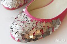 Sequined Toe Flats - $45.49 (iOffer)