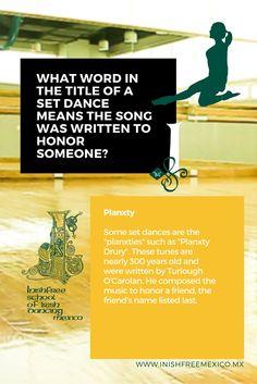 #FunTrivia  What Word in the title of a set dance means the song was written to honor someone?  #InishfreeMexico  Tania Martínez  #IrishDancer  #InishfreeTeam  #Inishfree School of #IrishDancing  ✨ #Academia de #DanzaIrlandesa  #InishfreePedregal  #InishfreeToluca  #TeamInishfree #SoftShoes #Dance #Danza #Feis #Winishfree