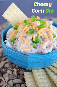 Creamy Cheesy Corn Dip - Great game day food!