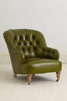 Anthropologie Leather Corrigan Chair