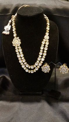 Uncut Kundan 2line necklace set