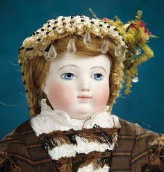 French Bisque Poupee by Adelaide Huret in Lovely Antique Costume 7000/9500
