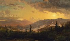 'Sunset after a Storm in the Catskill Mountains', Oil On Canvas by Jasper Francis Cropsey (1823-1900, United States)