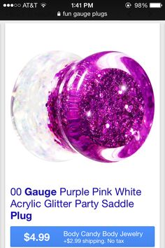 Found on google images- Purple glitter plugs