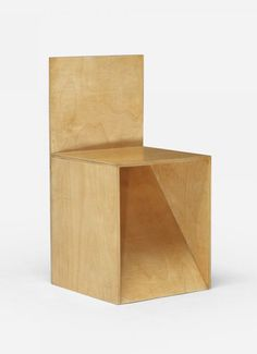 Donald Judd. Chair