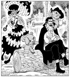 One Piece cover chapter 747 Perona and Mihawk