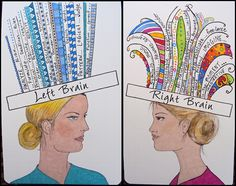 left brain/right brain. I am right brain all the way Drawing Projects, Fun Projects, Art Therapy Projects, Left Brain Right Brain, Brain Gym, Brain Science, Life Science, Learning Styles, Art Classroom