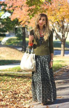 nice way to take a summer dress into fall