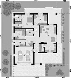 Projekt domu Alexandria dom jednorodzinny 133,79 m2 - koszt budowy - EXTRADOM Alexandria, House Plans, New Homes, Floor Plans, Flooring, How To Plan, Home Plans, Interiors, Floor Layout
