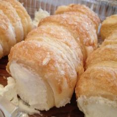 Amish Homemade Creme Horns (filling milk, cool whip, pudding) - Oh MY WORD! I love these things and I bet these are WAY better than the store bought! YUMMO!