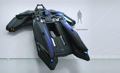Black Hovercraft, Lorenz Hideyoshi Ruwwe on ArtStation at https://www.artstation.com/artwork/black-hovercraft