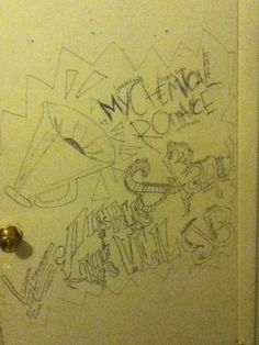 I drew on my door ehehe
