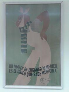 Cartel antiguo, ubicado en el Ambulatorio Fontenla Maristany de Ferrol