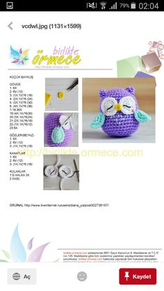 Baykuş Kawaii Crochet, Crochet Teddy, Easter Crochet, Crochet Bunny, Crochet Toys, Crochet Elephant Pattern, Crochet Amigurumi Free Patterns, Crochet Doll Pattern, Baby Sewing Projects