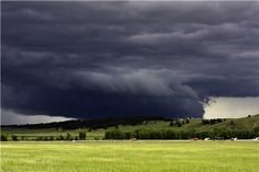 wall cloud, I'm going to say this is over the Flint Hills so I can pin this to my KS board