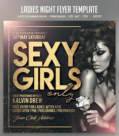 Club Poster, Party Poster, Social Media Poster, Social Media Design, Ladies Night Party, Birthday Flyer, Party Flyer, Nye Party, Flyer Template