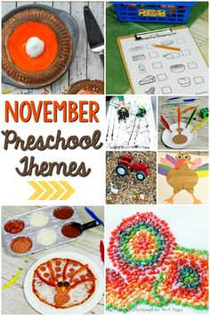 November Preschool Themes - Pre-K Pages