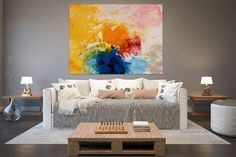 Large Modern Wall Art Painting,Large Abstract Painting on Canvas,large art on canvas,texture art painting,canvas wall art Abstract Wall Art, Canvas Wall Art, Large Painting, Painting Canvas, Colorful Paintings, Texture Art, Modern Wall Art, Large Art, Decoration