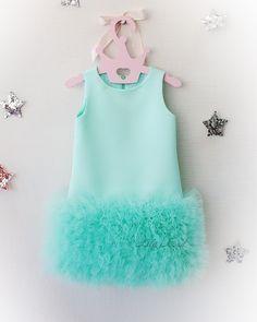 Girls birthday dress Tutu dress Mint birthday dress Baby dress Toddler dress Luxury mint birthday outfit Baby girl tutu princess dress