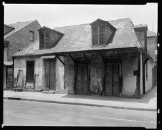 La Fitte cottage, 941 Bourbon St. at St. Philip, New Orleans, Orleans Parish, Louisiana