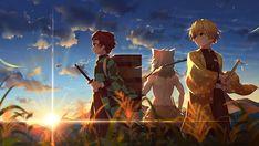 HD wallpaper: anime, digital art, artwork, 2D, Kimetsu no Yaiba, Tanjiro Kamado