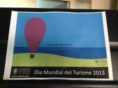 """Cartel """"Dia Mundial del Turismo"""" 2013 en el Campus de Gandia - UPV"""