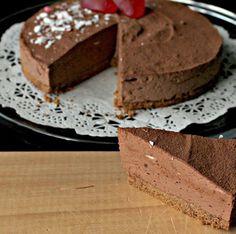 Tarta de mousse de chocolate / http://www.saborencristal.com/
