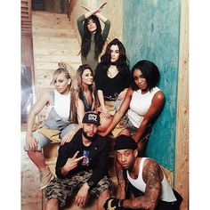 Fifth harmony - this is a shot from their music video, this shows the performers and how different from each other they are but how they work well  together