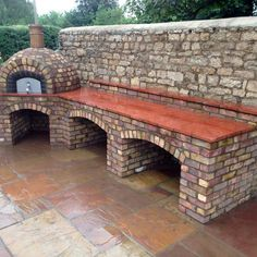 Get cooking on your awesome outdoor kitchen design ideas. See more ideas about outdoor kitchen design ideas, outdoor kitchen design plans, outdoor kitchen design for small space. Outdoor Cooking Area, Pizza Oven Outdoor, Backyard Kitchen, Outdoor Kitchen Design, Outdoor Spaces, Outdoor Living, Outdoor Decor, Brick Bbq, Small Space Kitchen