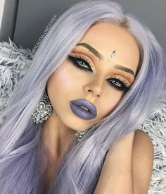 123 best ideas for makeup glitter halloween beauty – page 16 Natural Makeup Tips, Natural Hair Styles, Long Hair Styles, Pretty Makeup, Makeup Looks, Fancy Makeup, Edgy Makeup, Rave Makeup, Prom Makeup