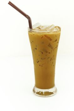 Vegan Iced Almond Latte with no refined sugar