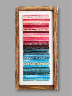 24x48 inch made with painted shims and framing by SallieO British Home, Reclaimed Wood Art, Modern Rustic, Jewelry Art, Abstract Art, Art Gallery, Artist, Pattern, Painting