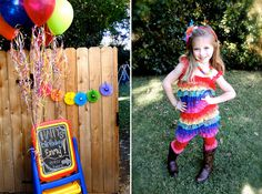 Rainbow Art Party from KB Custom Designs on Pretty My Party! #rainbow #art #party