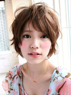 Pictures of 2013 Short Japanese Hairstyle. Get hairstyles ideas and inspiration with 2013 Short Japanese Hairstyle. Long Layered Hair, Short Curly Hair, Curly Hair Styles, Layered Hairstyle, Messy Hair, 2015 Hairstyles, Pixie Hairstyles, Long Face Haircuts, Short Haircut