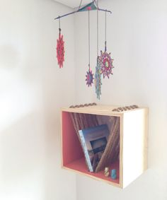 #square #wood #hanger #gipsy #beach #vibes #pine Floating Nightstand, Pine, Hanger, Wood, Table, Furniture, Home Decor, Black Pearls, Spaces