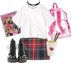 """""""noodles and tartan"""" by iz-gal ❤ liked on Polyvore"""