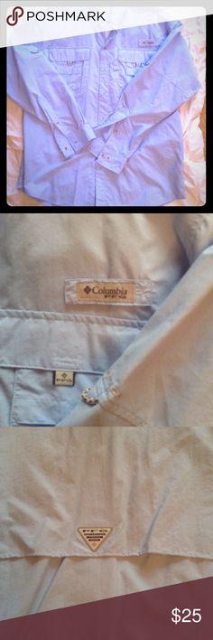 COLUMBIA PFG fishing shirt COLUMBIA PFG fishing shirt. It's baby blue in color. New without tags. COLUMBIA Shirts Casual Button Down Shirts