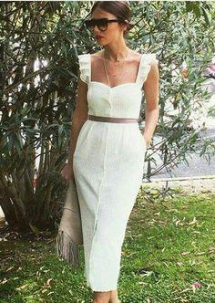 New dress boho white chic Ideas Trendy Dresses, Cute Dresses, Beautiful Dresses, Casual Dresses, Summer Dresses, Summer Clothes, Mode Outfits, Dress Outfits, Fashion Dresses