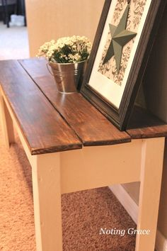 Noting Grace: Painted Bench Makeover