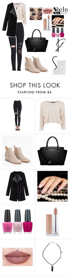 """shein"" by sabina1801 ❤ liked on Polyvore featuring MICHAEL Michael Kors, OPI, shein and blackrippedslimpant"
