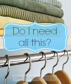Do I need this? Give from your abundance to the needy | OrganizingMadeFun.com