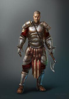 M fighter plate armor axe midlvl artstation - gunnar, mark akopov. Fantasy Male, Fantasy Armor, High Fantasy, Medieval Fantasy, Dnd Characters, Fantasy Characters, Fantasy Inspiration, Character Inspiration, The Elder Scrolls