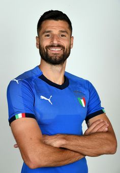 Antonio Candreva of Italy poses during the official portrait session at Coverciano on November 6, 2017 in Florence, Italy.