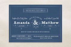 Blueprint Wedding Invitations by Sarah Brown at minted.com These are cool. Not for wedding though.