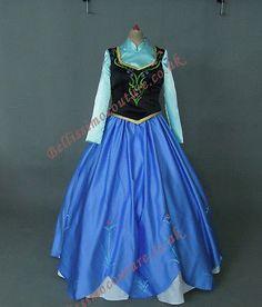 Disney-Frozen-Princess-Anna-costume-adult-SIZE-6-8-10-12-14-16-Anna-dress