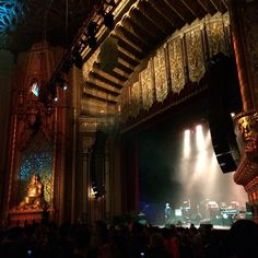 April 2015: Waiting to shoot TV on the Radio at the gorgeous Fox Theater in Oakland, #foxtheater #oldtheater #architecture #stage